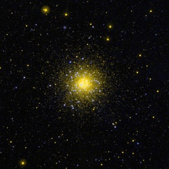 Ultraviolet image of the globular cluster NGC 1851 in the southern constellation Columba.