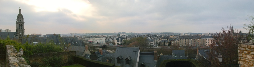 Panorama of Le Mans, facing north-west