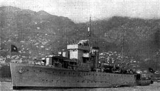 NRP Gonçalves Zarco, one of the ships that took part in the reoccupation of Portuguese Timor, invaded by the Japanese