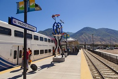 The FrontRunner at Utah Transit Authority's Provo station, July 2013