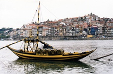 Portuguese wine, such as Port wine (being transported here into Porto), is world-famous.