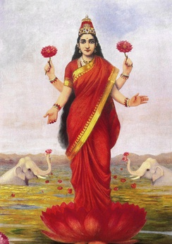 Diwali is celebrated in the honour of Lakshmi, the goddess of wealth.