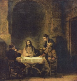 Christ at Emmaus by Rembrandt, 1648, Louvre