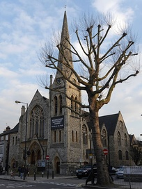 Rivercourt Methodist Church, Hammersmith, London, designed by Charles Bell