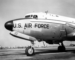 President Franklin D. Roosevelt's Douglas C-54 Skymaster aircraft, nicknamed the Sacred Cow