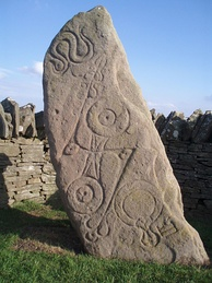 The class I Pictish stone at Aberlemno known as Aberlemno 1 or the Serpent Stone