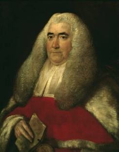 Sir William Blackstone in 1774, after his appointment as a Justice of the Court of King's Bench
