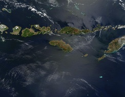 Satellite picture of the Lesser Sunda Islands