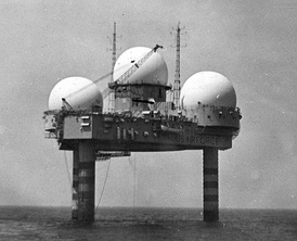 To increase warning time, radar systems called Texas Towers were placed in the Atlantic Ocean using technology similar to Texas-style offshore oil platforms