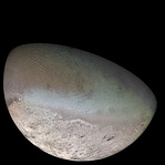 Triton as imaged by Voyager 2 (1989)