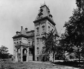 University Hall in Salt Lake City, the first permanent home of the University of Deseret (later the University of Utah)