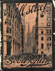"Front cover of the ""Wall Street Rag"" (1909) sheet music"