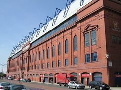 The main stand of Ibrox Stadium, the home of Rangers F.C., is a Category B listed building.[65]