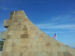 Monument to the 1st Infantry Division on Omaha Beach.