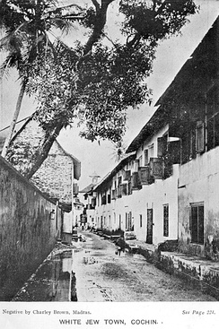 "Photo identified as ""White Jew town"", Cochin, 1913"
