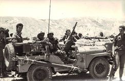 "Israeli reconnaissance forces from the ""Shaked"" unit in Sinai during the war."