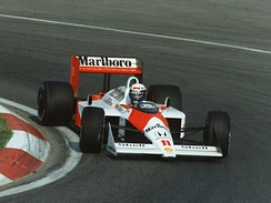 Prost driving for McLaren at the 1988 Canadian Grand Prix.