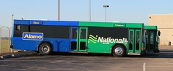 Alamo airport shuttle shared with National Car Rental, Detroit Metro Airport
