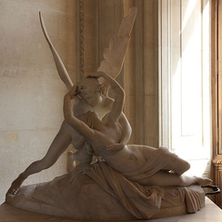 Antonio Canova's Psyche Revived by Cupid's Kiss was commissioned in 1787, donated in 1824.[26]