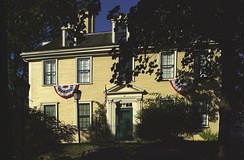 The Bellingham-Cary House at 34 Parker Street in Chelsea, Massachusetts is on the Richard Bellingham property and contains elements of his original house in the structure.  It is now a museum owned by the Governor Bellingham-Cary House Association.