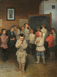 Mental Calculations. In the school of S.Rachinsky by Nikolay Bogdanov-Belsky. Russia, 1895.