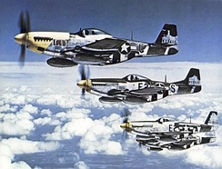 North American P-51 Mustangs of the 375th Fighter Squadron, 361st FG, summer 1944