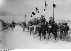 Turkish cavalry south of Jerusalem in April 1917