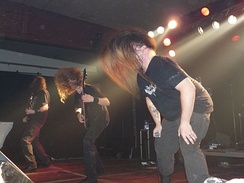 Death metal band Cannibal Corpse performing in 2009.