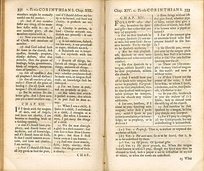 1 Corinthians, from the Douai Bible, 1749