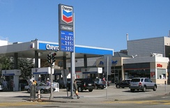 Chevron gas station design used until 2006