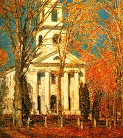 Church at Old Lyme, oil on canvas, Childe Hassam, 1905