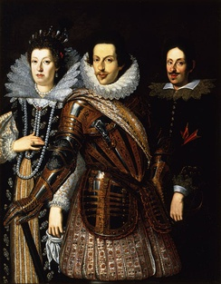 From left to right: The Grand Duchess Maria Maddalena, The Grand Duke Cosimo II, and their elder son, the future Ferdinando II