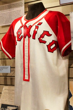 Team jersey from c. 1945 at the Baseball Hall of Fame