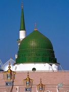 The Green Dome built over Muhammad's tomb