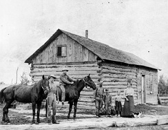 Typical Dutch homestead in Northeast Wisconsin, circa 1855