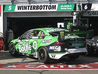 The Ford FG X Falcon of Mark Winterbottom at the 2017 Clipsal 500 Adelaide