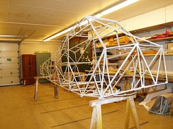 Piper PA-18 welded tube truss fuselage structure