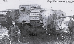 German troops with British tank captured on 11 April