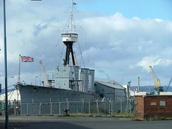 HMS Caroline, the last surviving warship that saw action at Jutland, is preserved in Belfast, Northern Ireland
