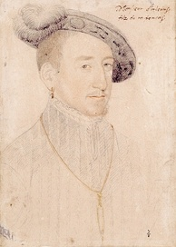 Henry, Duke of Orléans, by Corneille de Lyon. During his childhood, Henry spent almost four and a half years as a hostage in Spain, an ordeal that marked him for life, leaving him introverted and gloomy.[26]