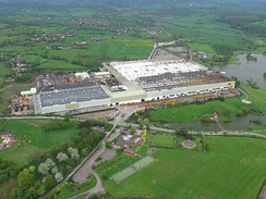 JCB factory and park at Rocester