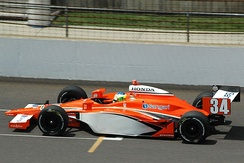 Camara practices for the 2008 Indianapolis 500.