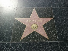 Lewis' motion picture star on the Hollywood Walk of Fame at 6821 Hollywood Blvd.