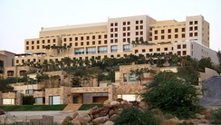 Kempinski Hotel, one of the many hotels on the Jordanian shore