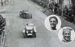 SCAP #15 coming out of Pontlieue, leading the winning Bentley of Davis (L) & Benjafield (R)