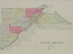 Historical map of Lucas County, 1899