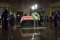 Ford lying in state in the Capitol rotunda
