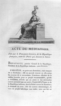 Act of Mediation, 1803