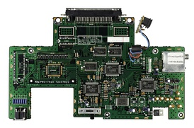 Top view of the motherboard for the TurboGrafx-16.