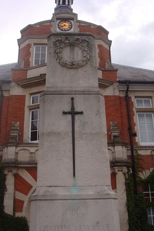 War memorial outside New Malden Town Hall
